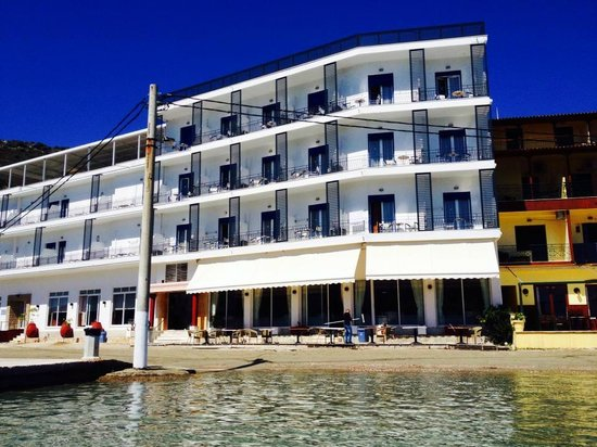 Hotel Minoa: the front of the hotel