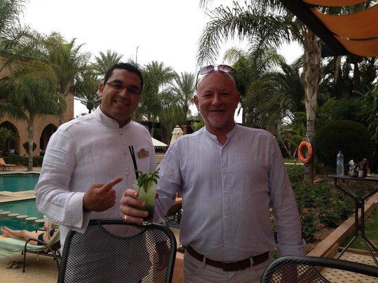 Palais Aziza & Spa: Karim the cocktail king and  the famous mojito