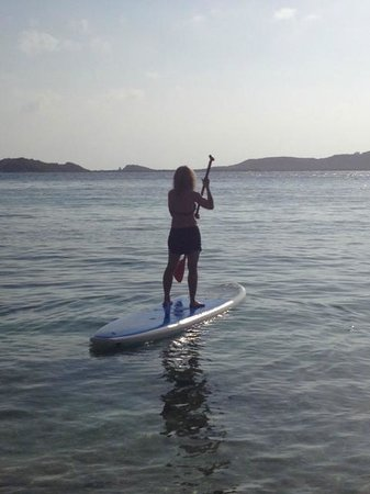 Secret Harbour Beach Resort : Paddleboarding in Secret Harbor