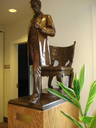 Saint-Gaudens National Historic Site: Rhe original of this bronze of Abraham Lincoln was unveiled in 1887 in Chicago