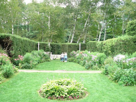 Saint-Gaudens National Historic Site: A portion of the formal gardens just behind the house