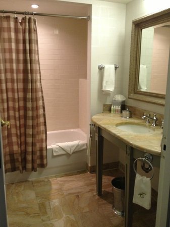 Hotel Commonwealth: Partial view of bathroom.