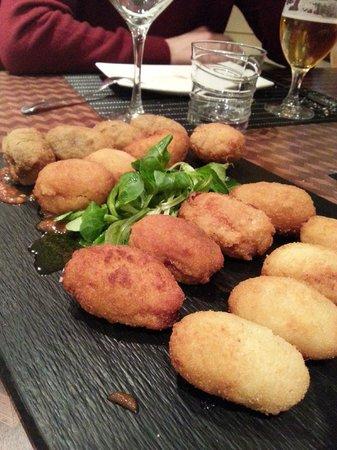 Restaurante Palatino: Surtido de croquetas