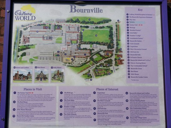 Cadbury World: Route map of things to see and do