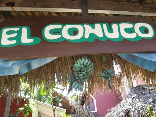 El Conuco: outside sign