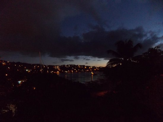 Lotus Chi Garden: View of Castries Harbor by night