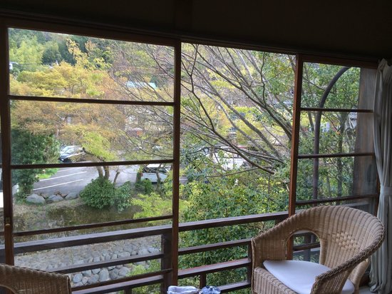 Arai Ryokan: 部屋からの眺め。外には桂川
