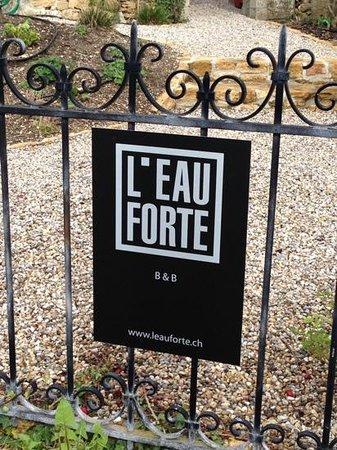 L'Eau Forte: giardino