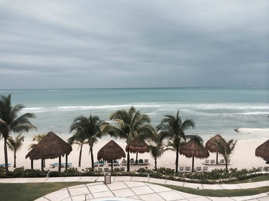 Secrets Silversands Riviera Cancun : View from 3329 Preferred Club Ocean Front Honeymoon Suite
