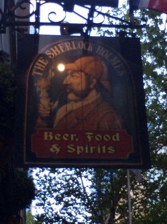 The Sherlock Holmes Pub sign. Melbourne, VIC