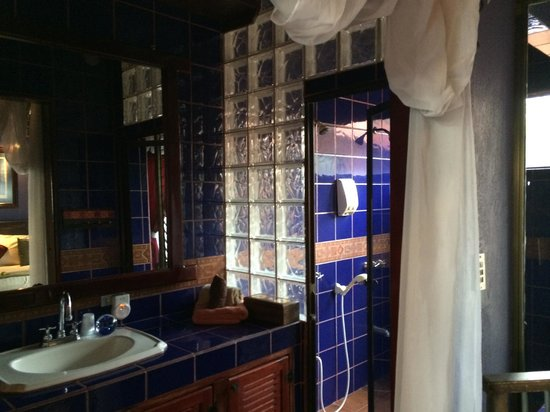 Casa Bella Rita Boutique Bed & Breakfast: big, double headed shower