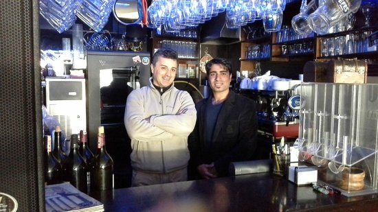Hippodrome Apartment: Murat and Antonio in the bar area