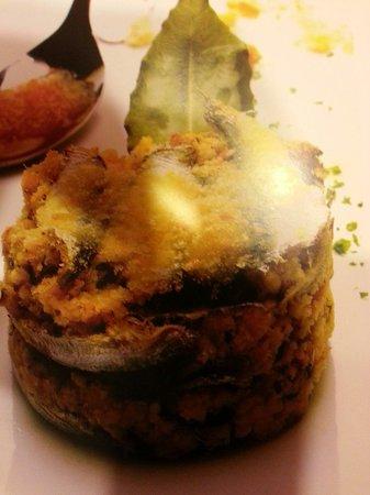 Galati Mamertino, Italy: Sformato di alici e finocchietto