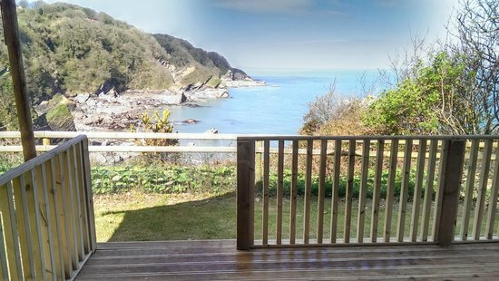 Sandaway Beach Holiday Park: View from Safari Tent balcony