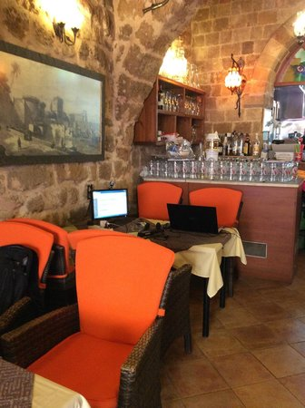 Sintrivani Restaurant: Inside Internet Table