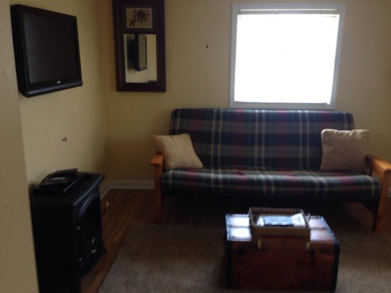 Pheasant Field Bed & Breakfast : The Cottage has a separate living room with a futon. Perfect for families or couples needing mor