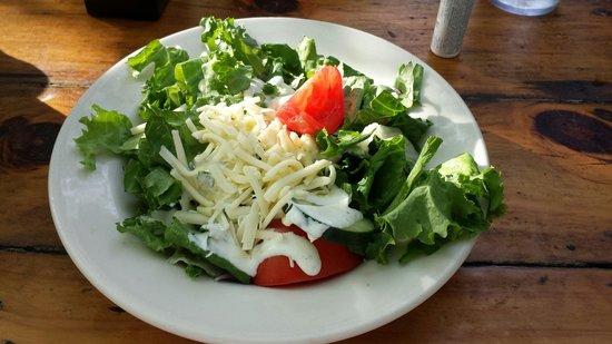 Gristmill: Dinner salad is huge!