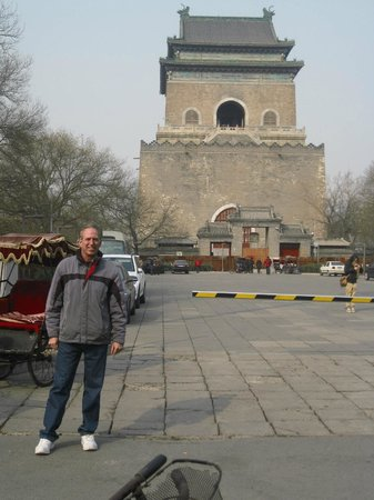 Bell and Drum Towers: Jim near the Bell Tower