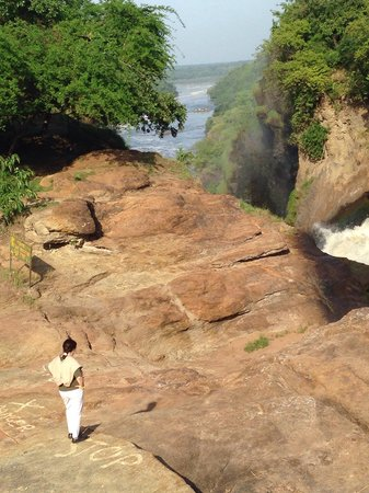 Murchison Falls National Park: Marie at the falls