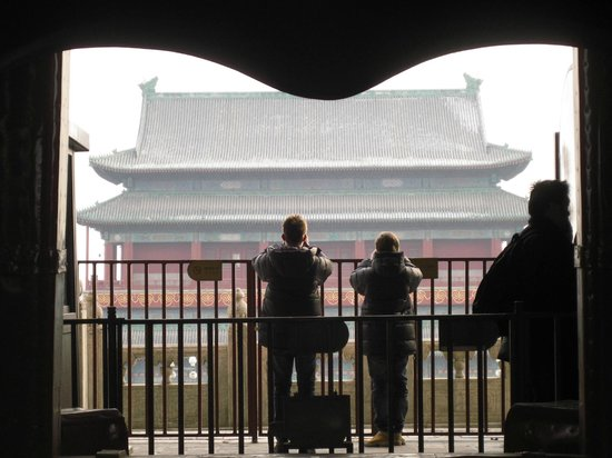 Bell and Drum Towers: The bell forms a silhouette as you look at the Drum Tower
