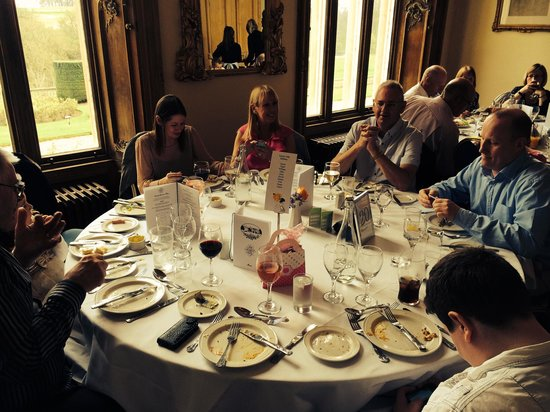 Stoke Rochford Hall: Lunch at one of our 3 tables in the Rochford room