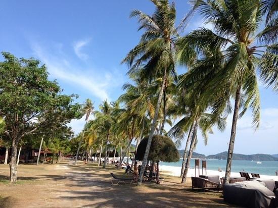 Meritus Pelangi Beach Resort & Spa, Langkawi: Strandabschnitt am Hotel