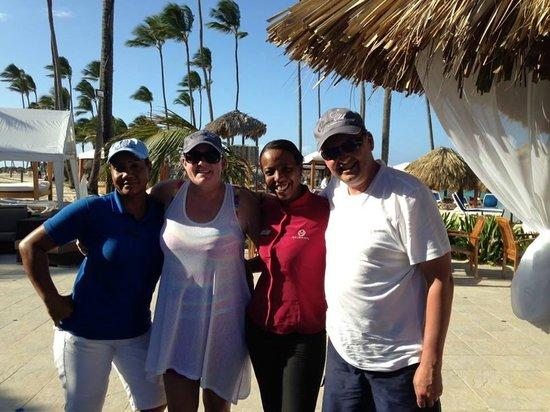 Majestic Elegance Punta Cana: Rosa, Maxima, Luc and Caroline xox  The best girls at the Majestic Elegance xox