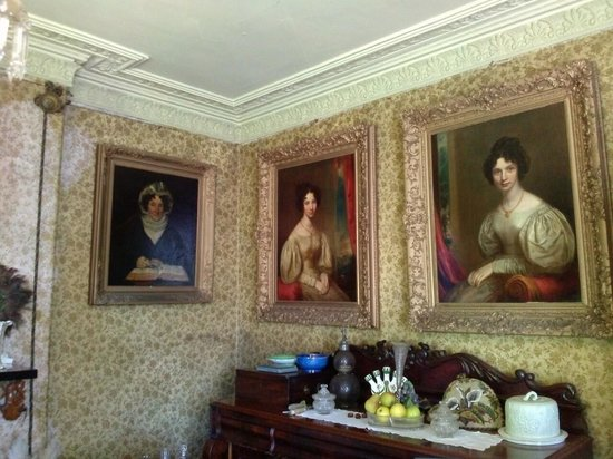 Grove Museum of Victorian Life: The wallpaper i believe is the original from approx 100 years ago. Amazing.