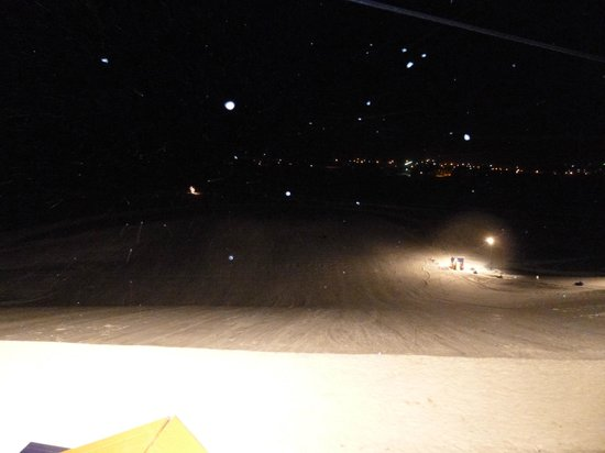 Fraser Tubing Hill: tubing hill at night