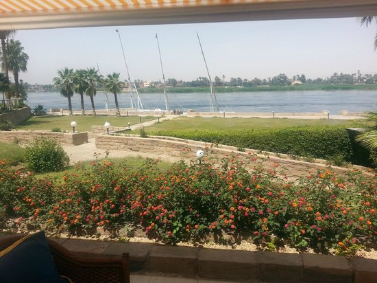 ACHTI Resort Luxor: Beautiful Nile River view from the restaurant