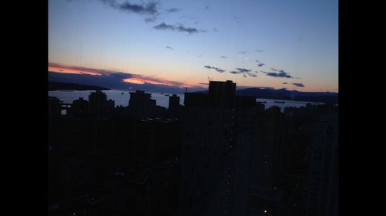 Embarc Vancouver: A mesmerizing evening view, out of our bedroom windows, Mar 2014