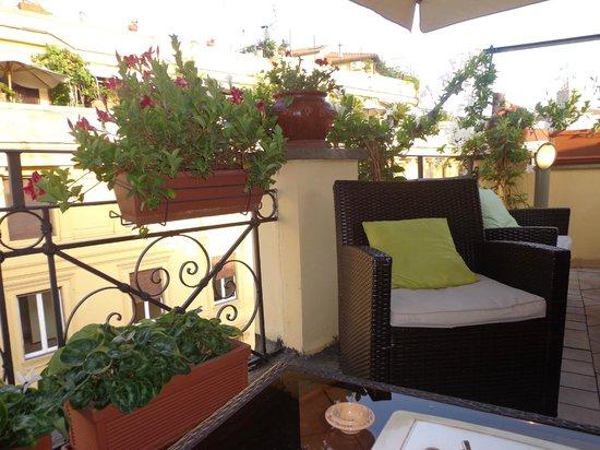 La Fenice: Terrasse de l'hôtel