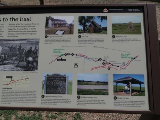 Bent's Old Fort National Historic Site : Interpretive sign