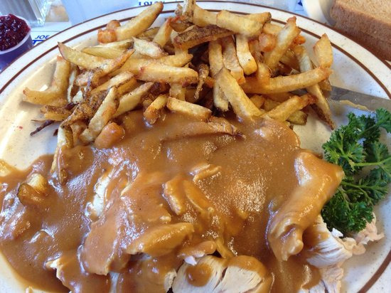Blue Benn Diner : Hot turkey sandwich with French fries