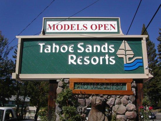 Tahoe Sands Resort: Entry Sign