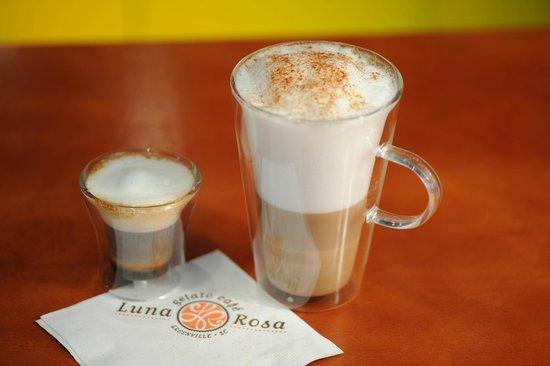 Luna Rosa Gelato Cafe: Italian espresso coffee