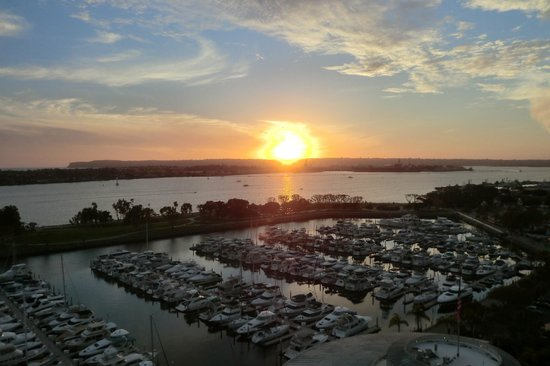 Marriott Marquis San Diego Marina: First Sunset from my Balcony