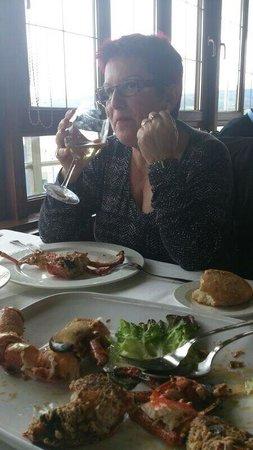 Restaurante San Miguel: Saboreando un buen bogavante, con un albariño