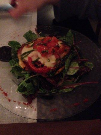 Restaurant La Tour du Plan : Tartelette tomate mozza