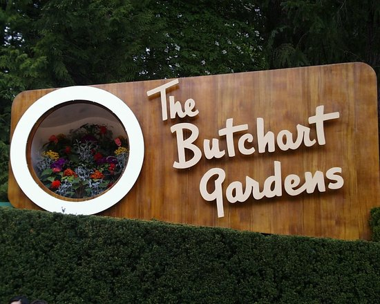 The Butchart Gardens: The entry