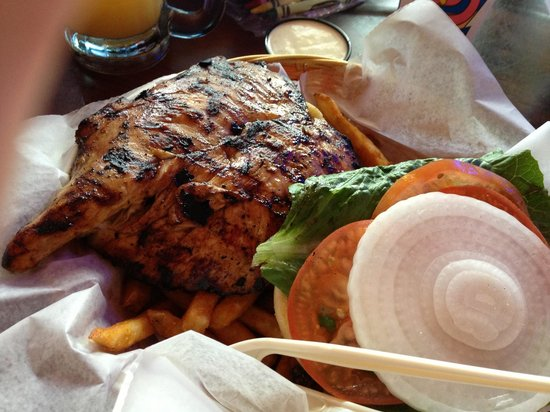 Lazy Flamingo : Mesquite Grilled Chicken Sandwich - Great flavor, moist, and a great size