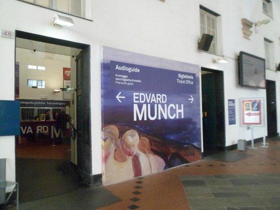 Biglietteria della mostra su Munch a Palazzo Ducale