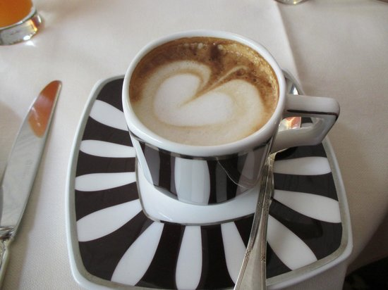 Hotel Regency: Our cappuccinos  with the heart swirl!