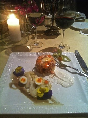Restauracja Dom Polski: chicken and ducks eggs in jelly