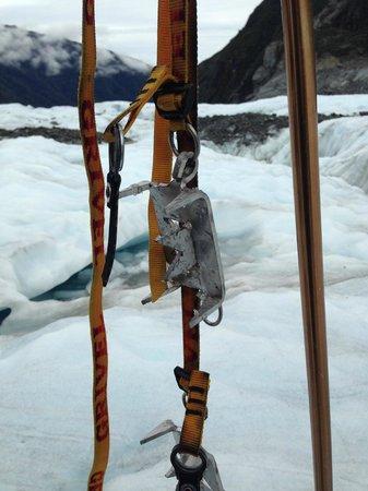 Fox Glacier Guiding: crampons and walking poles