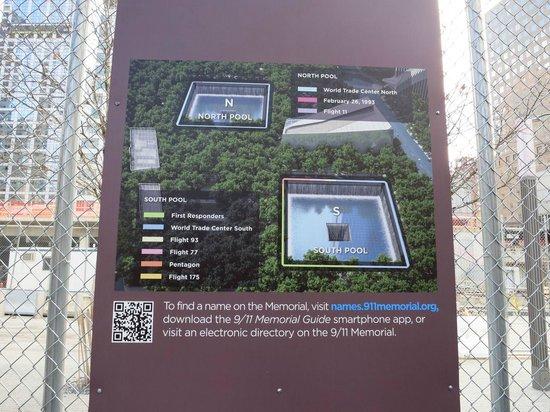 Mémorial du 11-Septembre : 名前の配列の意味がわかる