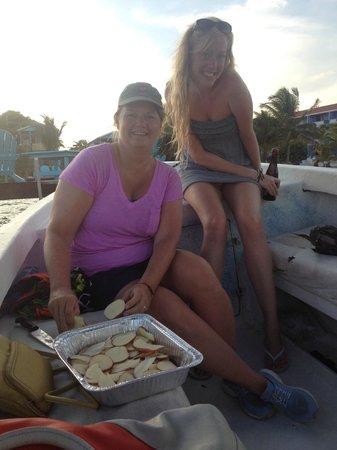 Blackhawk Sailing -  Tours : Helping Stephen prep our dinner