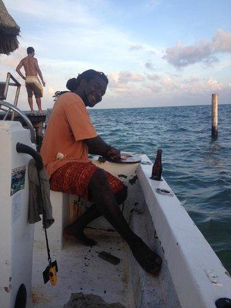 Blackhawk Sailing -  Tours : Stephen filleting our catch