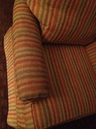 Lake Buena Vista Resort Village & Spa: dingy living room chair (all of them looked this way)
