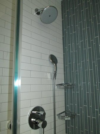 The Tuscany - A St Giles Signature Hotel : The glass shower stall